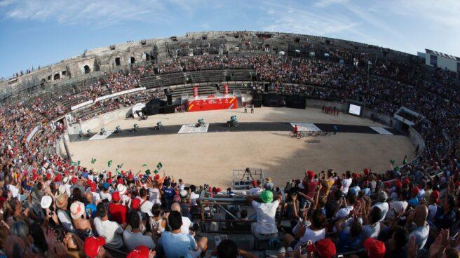 Arena de Nimes, meta de la primera etapa de la Vuelta a España celebrada este sábado.