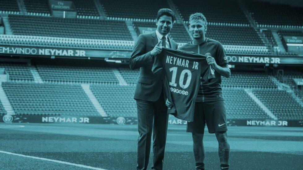 Neymar, en su presentación con el PSG.