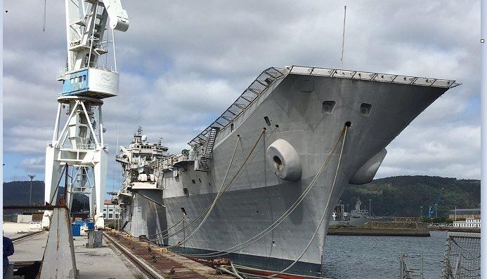 El portaaviones Príncipe de Asturias pone rumbo a Turquía para ser desmantelado.