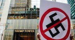Protestas ante la Torre Trump por su tibieza con los racistas de Charlottesville.