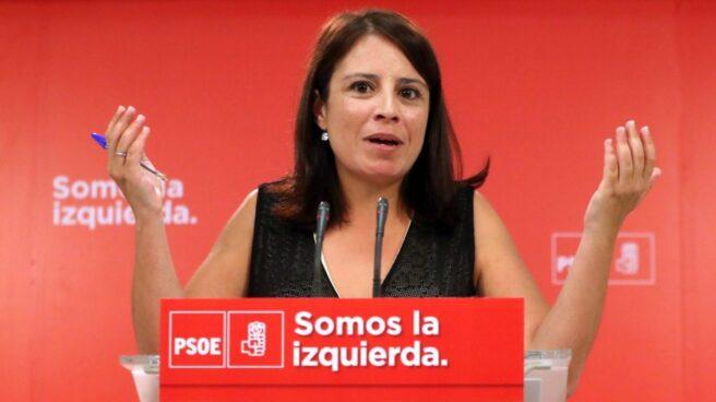 La vicesecretaria general, Adriana Lastra.