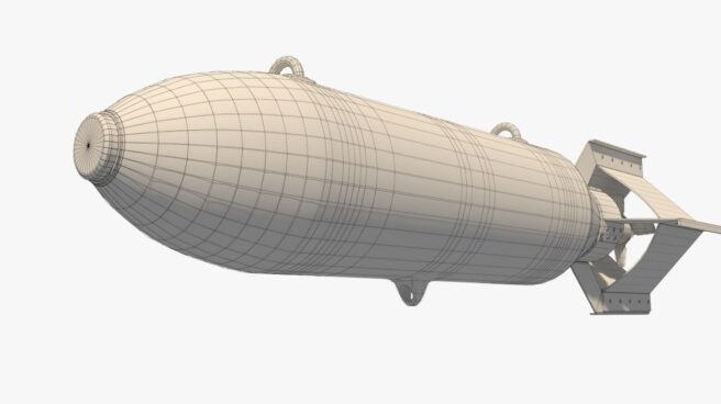 Modelo de una bomba de la IIGM lista para imprimir