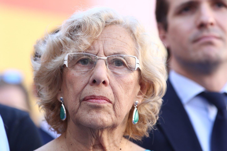 Manuela Carmena, durante el homenaje a Miguel Ángel Blanco el pasado 12 de julio.