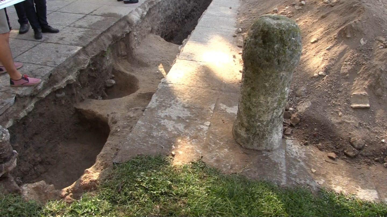 Restos de una construcción en lo que se considera la casa del Cid Campeador.