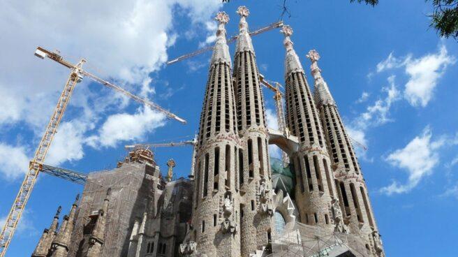 Vista de la Sagrada Familia de Barcelona (Cataluña).