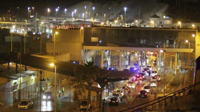 El paso fronterizo de Ceuta.