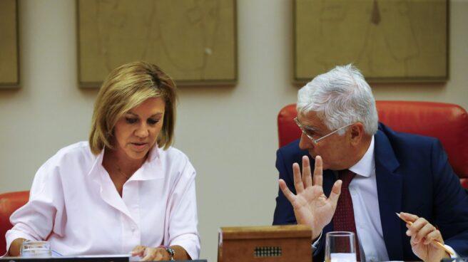 La ministra de Defensa, María Dolores de Cospedal, ha comparecido este miércoles en el Congreso.