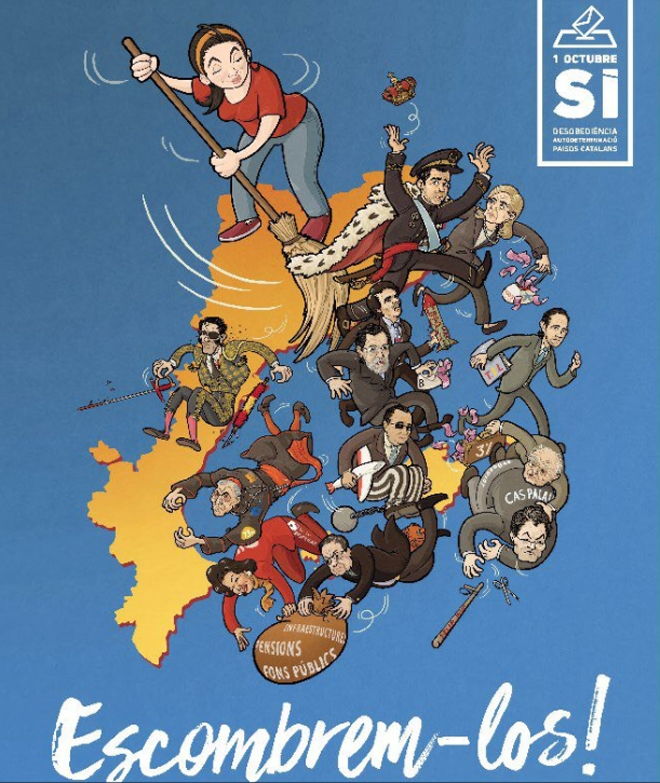 El nuevo cartel de la CUP a favor de la independencia.