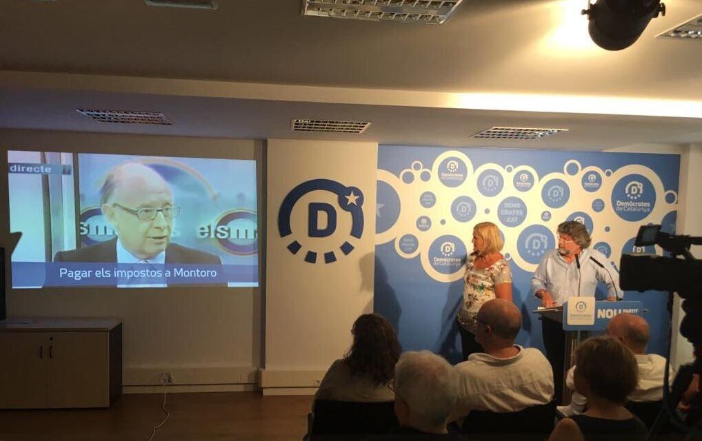 Acto de presentación de la campaña por el sí en el referéndum de Demòcrates.