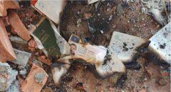 Documentación de los yihadistas quemada en Riudecanyes.