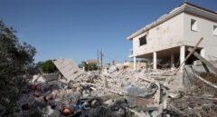 Estado en que quedó el chalé de Alcanar (Tarragona) tras la explosión.