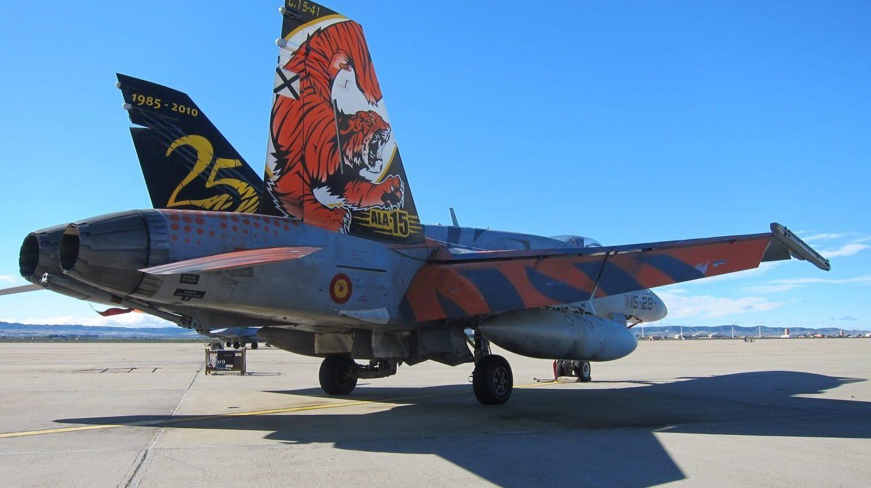 Cazas F-18 del Ejército español.