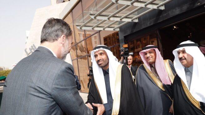 Felipe VI, en un encuentro empresarial en la Cámara de Comercio de Riad (Arabia Saudí), en enero de este año.
