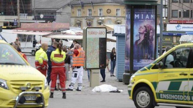 Imagen del ataque en Finlandia.