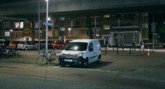 La furgoneta que ha sido inmovilizada en Rotrerdam.