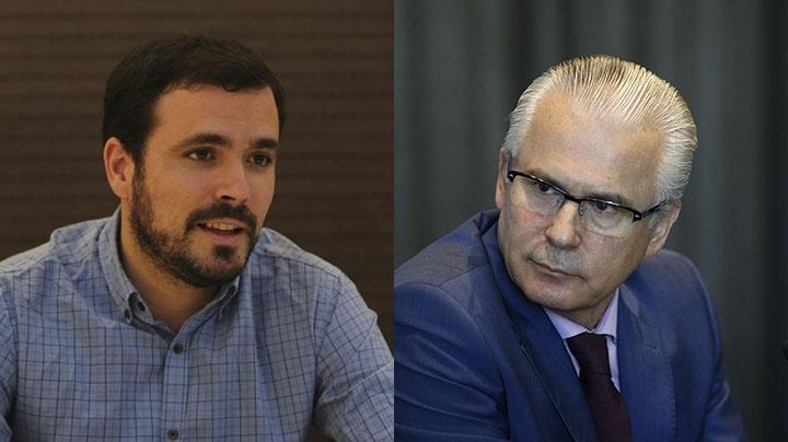 Alberto Garzón (IU) y Baltasar Garzón (Actúa).