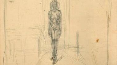 Dibujo de Giacometti.