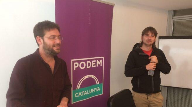 Los miembros de Podemo Albano Dante Fachin y Joan Giner.