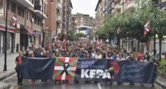 Manifestación celebrada en Galdakao para protestar por la política penitenciaria de los presos de ETA.
