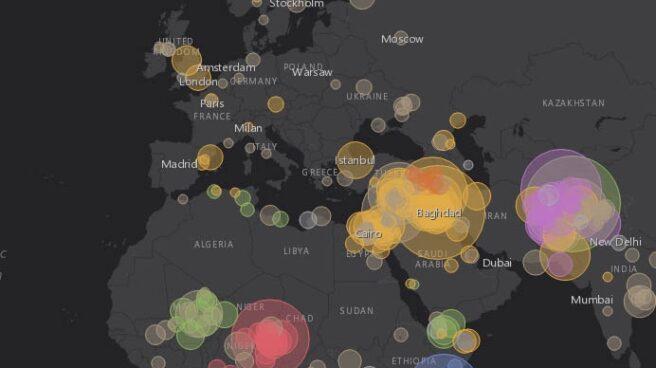 Mapa del terrorismo internacional