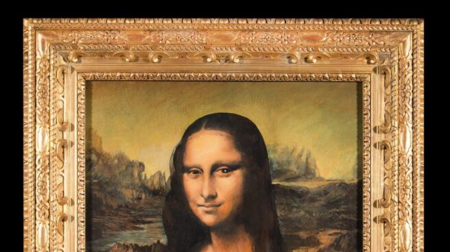 La réplica falsificada de la Mona Lisa.