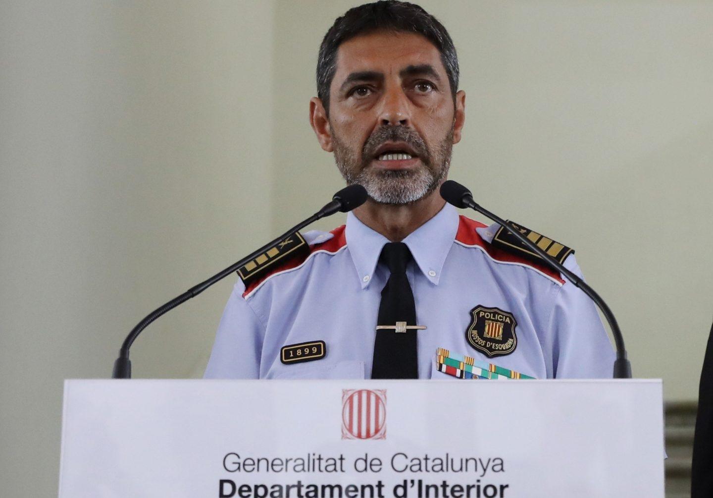 Josep Lluís Trapero, mayor de los Mossos d'Esquadra, en una comparecencia pública.