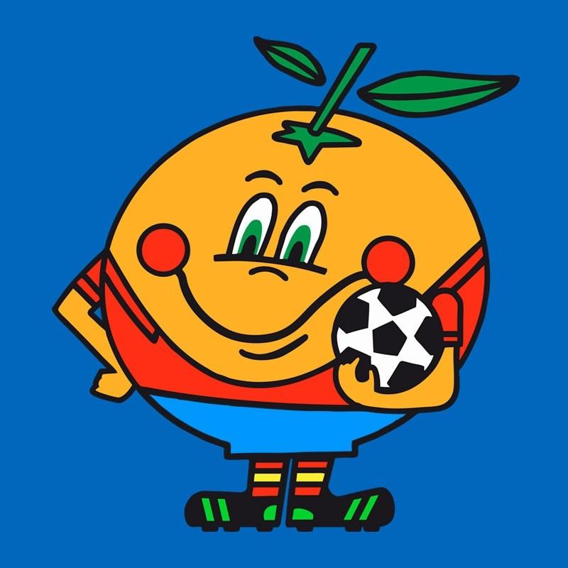 Naranjito, mascota oficial del Mundial de España en 1982.