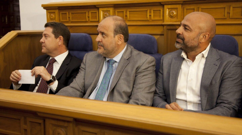Emiliano García-Page, José Luis Martínez Guijarro y José García Molina.