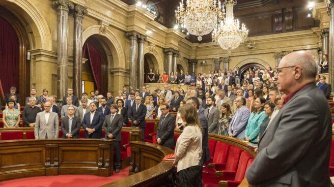 Imagen del Pleno en el Parlament de Cataluña a finales de julio.