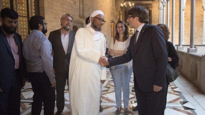 El presidente Puigdemont, este viernes en el Parlament.