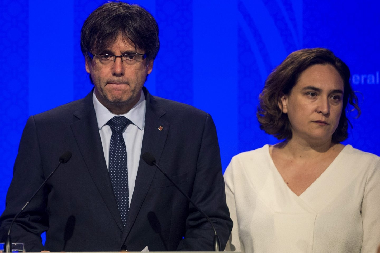 Carles Puigdemont y Ada Colau, en una imagen de archivo.