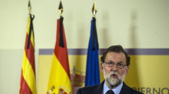 Rajoy comparece en Barcelona tras el atentado del 17 de agosto.