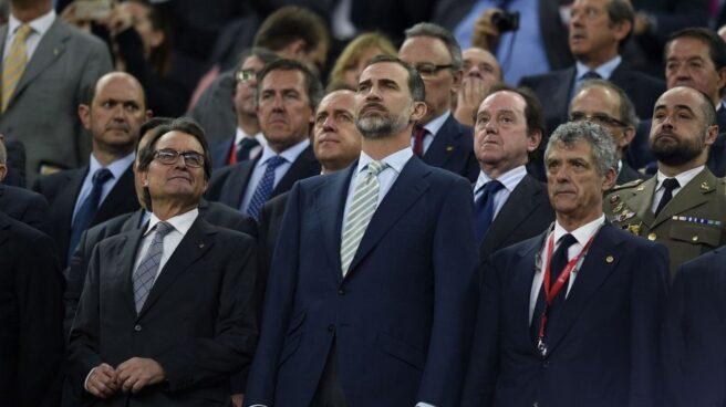 Felipe VI durante la Copa del Rey de 2015.