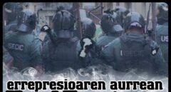 Cartel llamando al escrache contra la Guardia Civil en Alsasua.