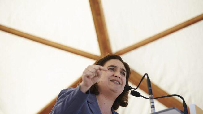 Ada Colau, durante su acto de este lunes de celebración de la Diada