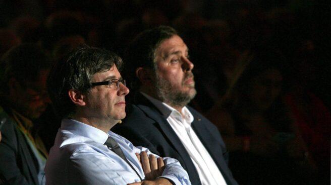 Carles Puigdemont y Oriol Junqueras, en su etapa al frente del 'Govern'.