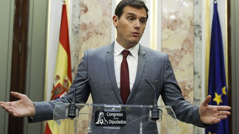 El líder de Ciudadanos, Albert Rivera, en el Congreso de los DIputados.