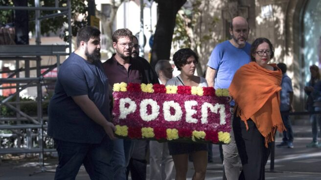 Referéndum 1-O: el líder de Podem, Albano Dante Fachin, en la Diada.