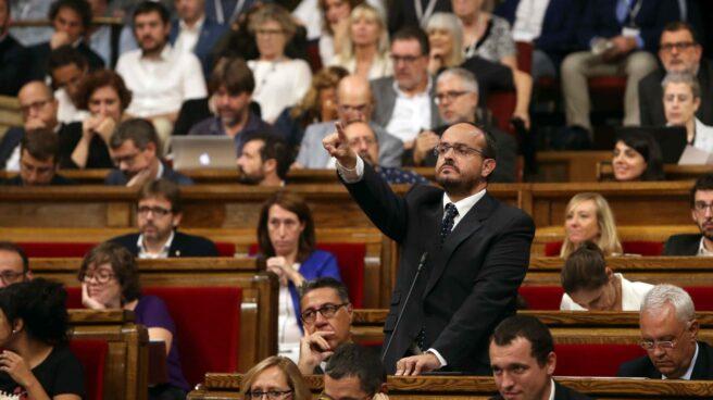Alejandro Fernández (PP), en el Parlament.