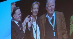 Los líderes ultraderechistas Alexander Gauland y Alice Weidel, en su proclamación en el congreso de Alternativa para Alemania.