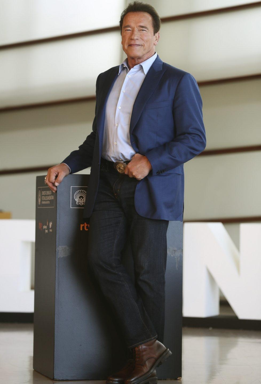 Arnold Schwarzenegger en el Festival de San Sebastián.
