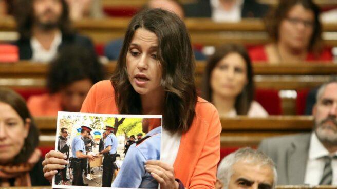 Referéndum 1-O: Inés Arrimadas, en el Parlament.