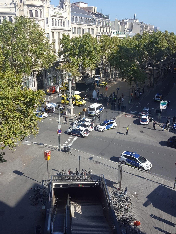 Atentado yihadista en la Rambla de Barcelona.