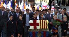Referéndum 1-O: Josep Maria Bartomeu, presidente del Barcelona, en la Diada.