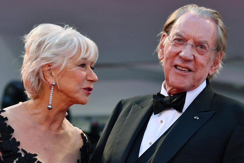 Donald Sutherland y Helen Mirren