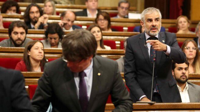 Referéndum 1-O: Carrizosa señala a Puigdemont en el Parlament.
