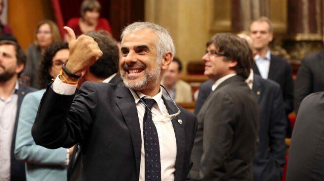 Referéndum 1-O: El portavoz de Ciudadanos, Carlos Carrizosa, en el Parlament.