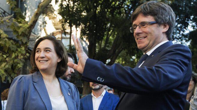 Referéndum 1-O: Colau y Puigdemont, en la Diada.