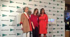 Las protagonistas de la campaña de moda otoño de El Corte Inglés, Alicia Borrás, Inma Shara y Lorena Durán.