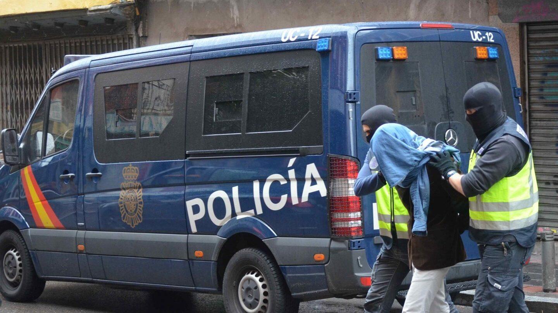 Detención de un yihadista en una operación desarrollada por la Policía Nacional en Madrid a finales de 2015.